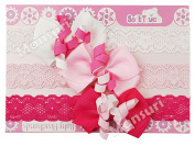 Baby Girls Pack Of 3 Headbands With Korker Bow Hair Bands HB66