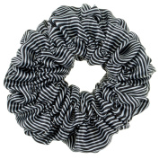 Hair Styling Hairstyling Satin Scrunchy Hairband Hair Band Elastic Ponytails Holder Bobble With Black and White Stripes