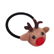 Girl Baby Kids Hair Rope, Quistal Christmas Xmas Elastic Hair Ponytail Holders Hair Tie Bands