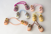 Pack of 6 Hair Ponios of Shoes. .