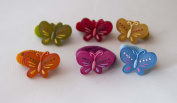 Pack of 12 Hair Ponios Children's Butterfly. .