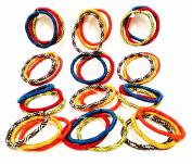 36 Hair Bands Girl/Women Multicolor Diameter 5 cms high quality