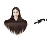 70cm Mannequin Head Hair Styling Training Head Manikin Cosmetology Doll Head Synthetic Fibre Hair
