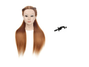 70cm Synthetic Fibre Mannequin HeadHairdresser Training Head Manikin Cosmetology Doll Head With Free Clamp Holder