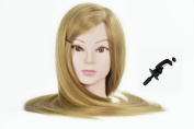 70cm Mannequin Head For Hairdresser Wig Manikin Hairdressing Dummy Doll Heads Synthetic Hair Styling Mannequins Training