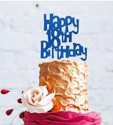 Happy 18th Birthday Cake Topper - Dark Blue