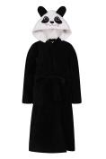 Girls Panda Animal Novelty Dressing Gown Soft Fleece Character Bathrobe Children