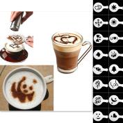 QHGstore Coffee Barista Stencils Template Strew Pad Duster Spray