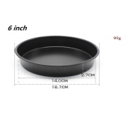 Saihui 1.7cm Round Pizza Pan Tray Carbon Steel Non-Stick Oven Pizza Plate Pan