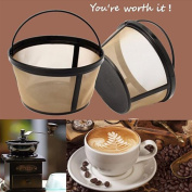squarex_Basket Style Permanent Gold Tone Coffee Filter