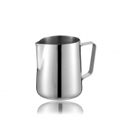 AsentechUK® Stainless Steel Cylinder Coffee Cup Cappuccino Latte Jug Milk Frothing Pitcher Cafe Supplies