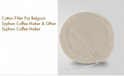 BourneTech 10 pieces Cloth Replacement Filter For Belgium Syphon Coffee Maker and Other Syphon Coffee Maker