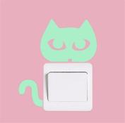 Tefamore Cute Creative Kitten Luminous Switch Wall Sticker