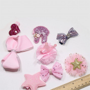 Chinget 10pcs Girls Hair Accessories Bow Hairpins Bowknot Hair Clips Girls Gift