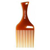 Hair Comb- Afro Hair Comb infused with Argan Oil by Majestik+, Wide Tooth, Brown, Rake Comb, With Free Bespoke PVC Product Pouch