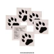 Little Paws Tatttoos - Black Animal Paws temporary tattoos