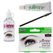 Julienne Eyelash Eyebrow Tint Dye Dark Brown + Oxidant Developer 50ml