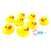 Malloom 10PC Squeezing Call Rubber Duck Ducky Duckie Baby Shower Birthday Gift