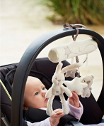 LB 2 X Hanging Toy Baby Rattle Toy Soft Plush Crib Stroller Rabbit Musical Pendant