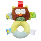 YeahiBaby Soft Plush Hand Rattle Baby Developmental Animal Toys for 0-12 Months Infant