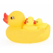 Cido 4pcs Yellow Rubber Ducks Bathtime Float Squeaky Bath Toy Water Play Baby Kids Toddler
