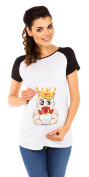 Zeta Ville - Women's Maternity T-Shirt Top Funny Baby Print Short Sleeves - 502c