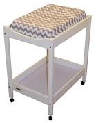 Change Table Mat Cover Cotton GREY FAWN CHEVRON Bambella Designs
