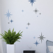 8 -POINT STAR SET OF 6 Nursery Childrens Bedroom Stencil - Furniture Wall Floor Stencil for Painting