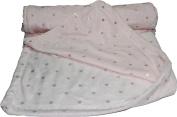 Soft plush fleece metallic dots pram/moses backet/crib baby blanket