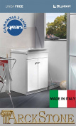 arckstone Unit Laundry Axle Bath Internal blplast Free 60 x 50 x 84 cm