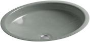 KOHLER K-880m Canvas Cast Iron Bathroom Sink, Basalt
