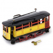 Gazechimp Retro Tram Streetcar Bus Model Kid Tin Toy Collectible Gift Wind Up Toy