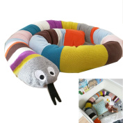 Baby Crib Bumpers Braids Protective Snake Pillow Home Decoration 180cm