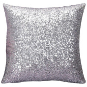 Ruikey Sequins Pillow Cases Silk Sofa Waist Car Cushion Covers for Home Decoration ,40 × 40 cm