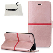 Case for iPhone 7 Plus/iPhone 8 Plus,iPhone 7 Plus/iPhone 8 Plus Leather Case, TOCASO [Lifetime Warranty] Folio Leather Wallet Case with [Kickstand] [Card Slots] [Magnetic Closure] Flip Book Cover Case Genuine Quality Elegant Style Holster for iPhone 7 ..