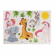 display08 Cute Cartoon Animal Unicorn Elephant Giraffe Wall Sticker Kids Room DIY Home Decor
