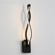 Atmko®LED Modern Wall Light Indoor Black Curve Modelling Acrylic Aluminium Wall Lamp Sconce Bedside lamp Contemporary Simplicity Style Lighting Fixtures For Bedroom Living Room Corridor