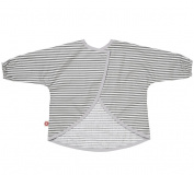 Grey Striped Bib with Sleeves Dirt Grey Stripes by Franck & Fischer