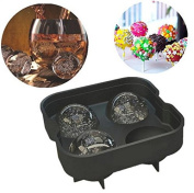 ReadiMax£¨TM)1Pcs 4 Hole Round Ball Ice Cube Brick Maker Mould Mould Whiskey Ball Maker Ice Cream makers