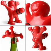 ReadiMax£¨TM)HOT Happy Man Wine Bottle Stopper Bottle Plug Perky Novelty Wine Cork Great Gift for Friend Christmas Santa Xmas wine Opener