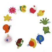 Veroda Colourful Different Shapes Kids Cartoon Clip Bookmarks ---Random 12PCS