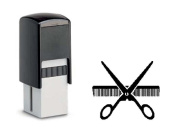 Hair Salon Loyalty Stamp Cards 10 x 10 mm with Scissors and Comb Motif