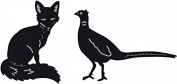 "Marianne Design Craftable ""Fox and Pheasant"" Die Set, Grey"