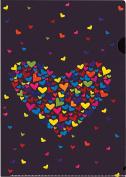 CENTRUM A4 PP Heart Design Slipfile Folder