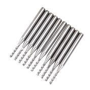 Foxnovo 10pcs 1.5mm Carbide PCB End Mills Endmills