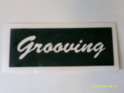 12 x Grooving word stencils for etching on glass hobby craft glassware festivals Ibiza hippy