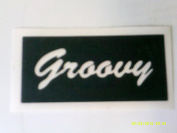 12 x Groovy word stencils for etching on glass hobby craft glassware festivals Ibiza hippy