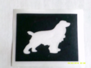 12 x Red / Irish setter dog stencils for etching on glass hobby craft glassware