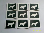 12 x French bulldog dog stencils for etching on glass hobby craft Frenchie