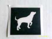 12 x Labrador dog stencils for etching on glass hobby craft Yorkie